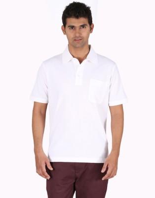 Furore Solid Men's Polo White T-Shirt