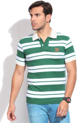Puma Striped Men's Polo T-Shirt