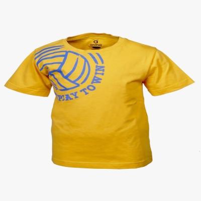 ANTHILL Printed Boy's Round Neck Yellow T-Shirt