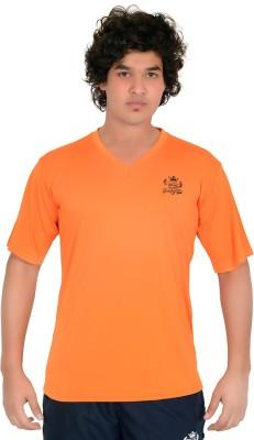 SHREDDED PROPHYSIQUE Solid Men's V-neck Orange T-Shirt