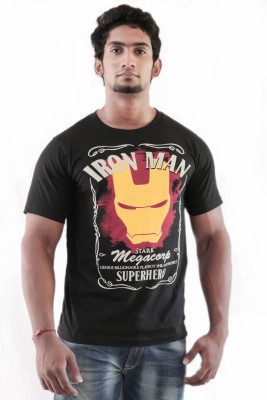 Indrow Printed Men's Round Neck T-Shirt