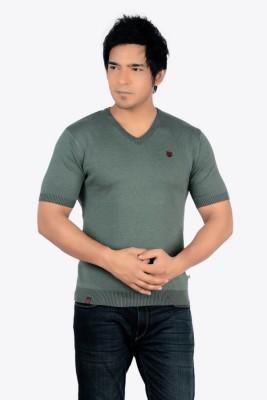 Core Solid Men's V-neck Black, White, Red, Beige T-Shirt