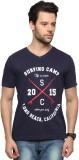 Zovi Printed Men's V-neck Blue T-Shirt