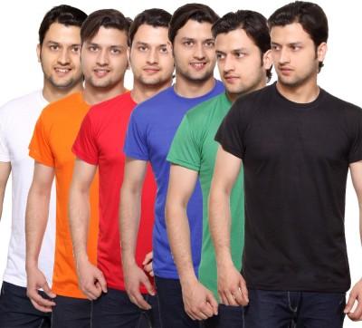 MANGO REPUBLIC Solid Men's Round Neck Reversible Multicolor T-Shirt