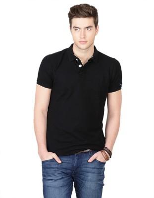 Basics Solid Men's Polo Neck T-Shirt