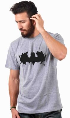 Sukhiaatma Printed Men's Round Neck Grey T-Shirt