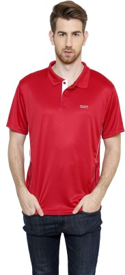 Freak,N by Cotton County Solid Men's Polo Red T-Shirt