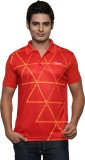Head Striped Men's Polo Neck Red T-Shirt