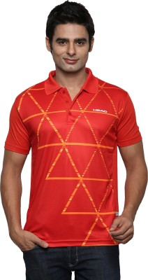 Head Striped Men's Polo Red T-Shirt