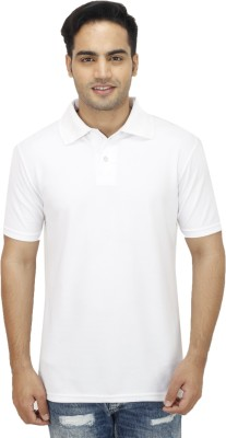 Ishmeet Solid Men's Polo White T-Shirt