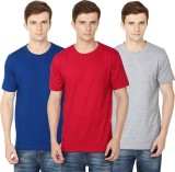Club Vintage Solid Men's Round Neck Red,...