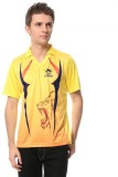 T10 Sports Solid Men's V-neck Yellow T-S...