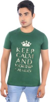 Pavitra Paapi Printed Men's Round Neck Green T-Shirt