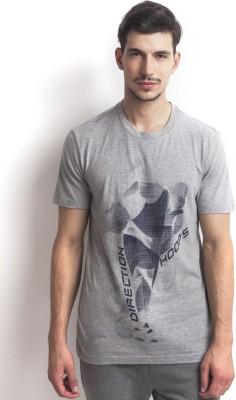 Three Degre Graphic Print Men's Round Neck T-Shirt