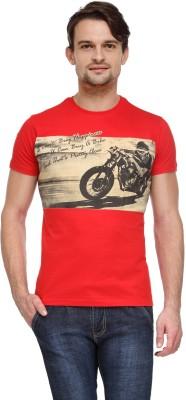 Flippd Graphic Print Men's Round Neck Red T-Shirt