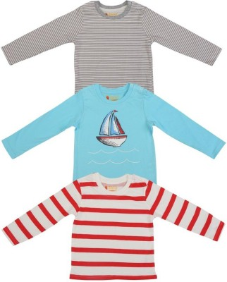 Karrot by Shoppers Stop Striped, Printed Baby Boy's Round Neck T-Shirt