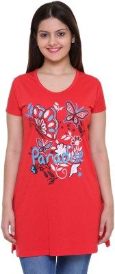 IN Love Casual Short Sleeve Printed Women's Red Top