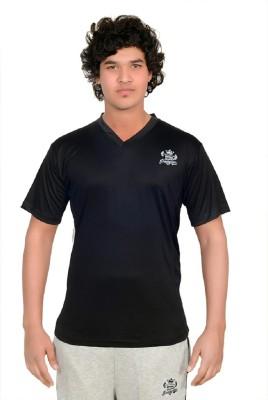 SHREDDED PROPHYSIQUE Solid Men's V-neck Black T-Shirt