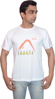 Prokyde Printed Men's Round Neck White T-Shirt