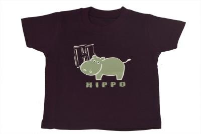 TSG Breeze Printed Baby Girl's Round Neck Purple T-Shirt