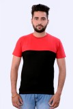 Martech Solid Men's Round Neck Red T-Shi...
