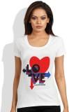 Maya Printed Women's Round Neck T-Shirt