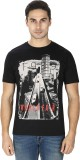 Sparky Printed Men's Round Neck Black T-...