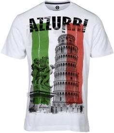Huetrap Printed Men's Round Neck White T-Shirt