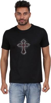Xtees Solid Men's Round Neck Black T-Shirt