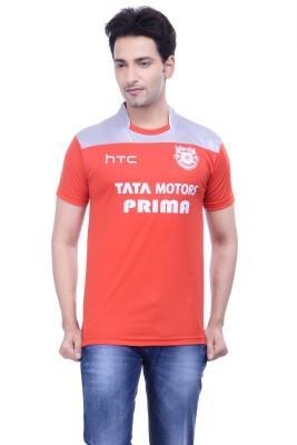 DINAAR Printed Men's Round Neck Red T-Shirt
