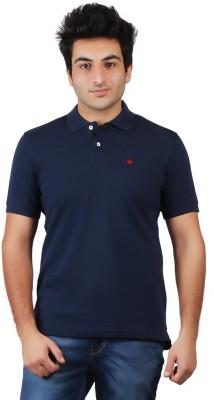 Numero Uno Solid Men's Polo Neck Blue T-Shirt