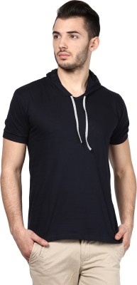 Inkovy Solid Men's Hooded T-Shirt