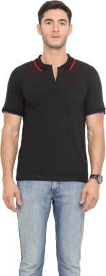 Northern Lights Solid Men's Polo Neck T-Shirt