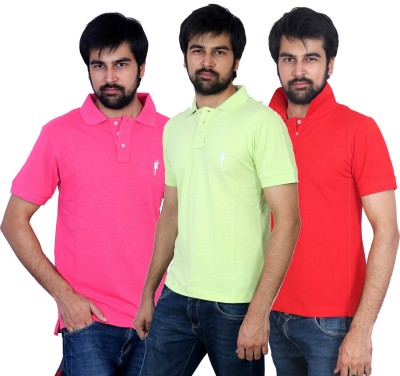 The Casanova Solid Men's Polo Multicolor T-Shirt