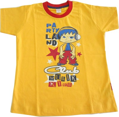 Kandyfloss Graphic Print Baby Boy's Round Neck T-Shirt