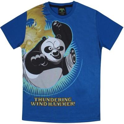 KUNG FU PANDA Animal Print Boy's Round Neck Multicolor T-Shirt