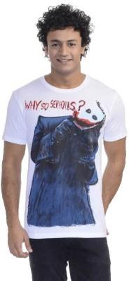 Dark Knight Printed Men's Round Neck White T-Shirt