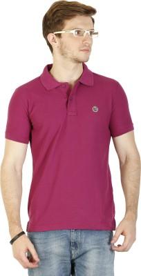 Duke Stardust Solid Men's Polo Neck Purple T-Shirt