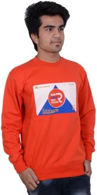Being Dessi Solid Men's Round Neck Orange T-Shirt