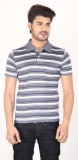 Planet 69 Striped Men's Polo Neck Grey, ...