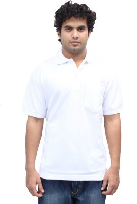 Romano Solid Men's Polo White T-Shirt
