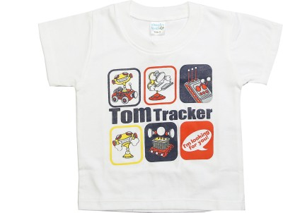 Cheeky Duck Graphic Print Boy's Round Neck White T-Shirt