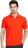UNO Cotton Solid Men's Polo Neck Red T-S...