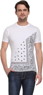 Flippd Graphic Print Men's Round Neck White T-Shirt
