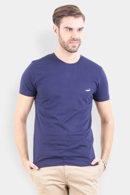 Crocodile Solid Men's Round Neck Multicolor T-Shirt