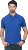 Norwood Solid Men's Polo Neck Blue T-Shi...