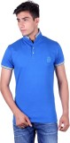All Ruggby Solid Men's Polo Neck Blue T-...