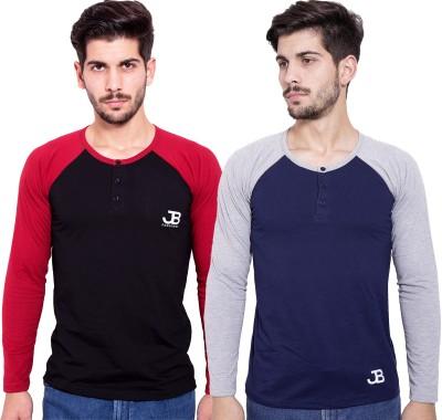Jangoboy Solid Men,s Round Neck Black T-Shirt