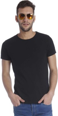 Jack & Jones Solid Mens Round Neck T-Shirt