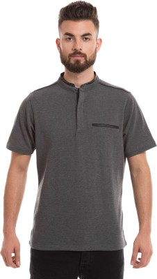 Prym Solid Men's Round Neck Grey T-Shirt
